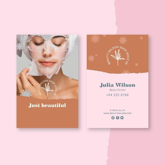 Piękna I Zdrowa Wizytówka Salonu Premium Wektorów