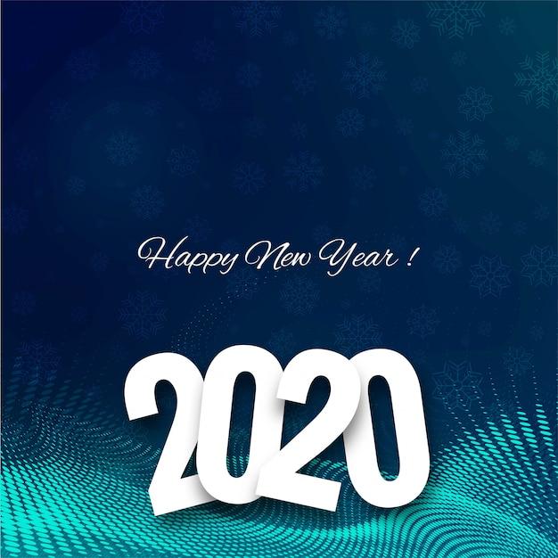 Piękna Karta Festiwalu Celebracja Nowy Rok 2020 Tekst Darmowych Wektorów