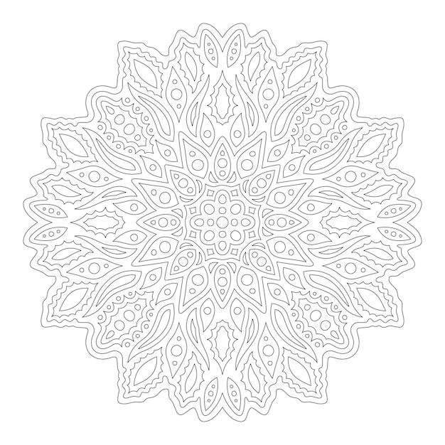 Piękna Liniowa Ilustracja Monochromatyczna Do Kolorowania Książki Dla Dorosłych Premium Wektorów