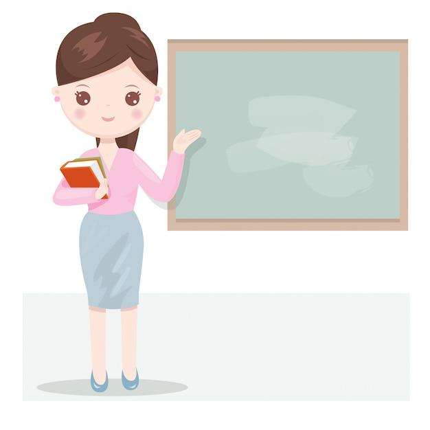 Piękna nauczycielka kobiet Premium Wektorów