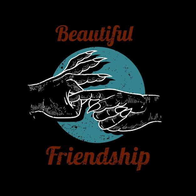 Piękna Przyjaźń Premium Wektorów