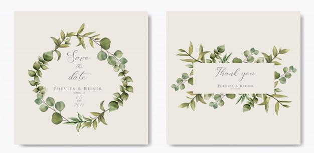 Piękna Rama Kwiatowy Na Zaproszenie Na ślub Premium Wektorów