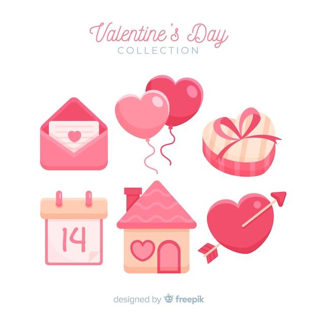 Piękna valentine elementów opakowanie Darmowych Wektorów