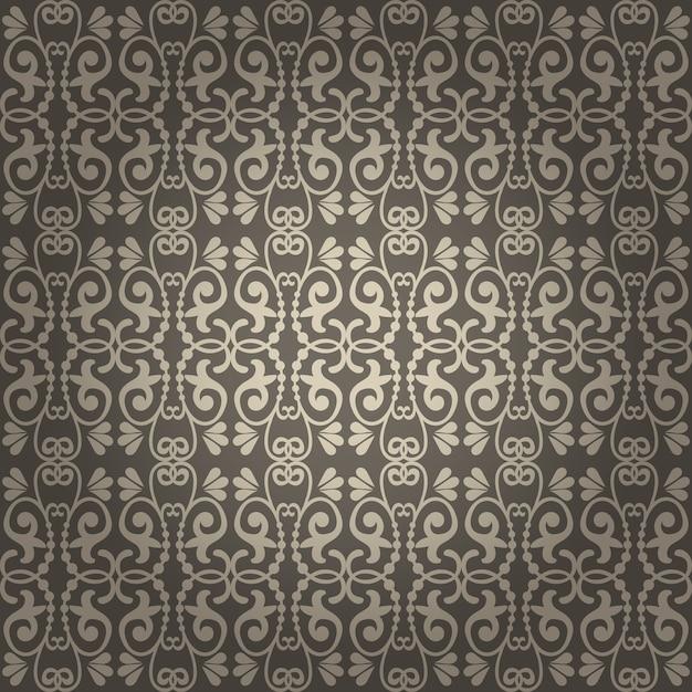 Piękne Bezszwowe Tło Wektor Vintage Tapety Darmowych Wektorów