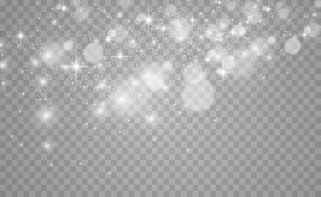Piękne Iskry świecą Specjalnym światłem. Premium Wektorów