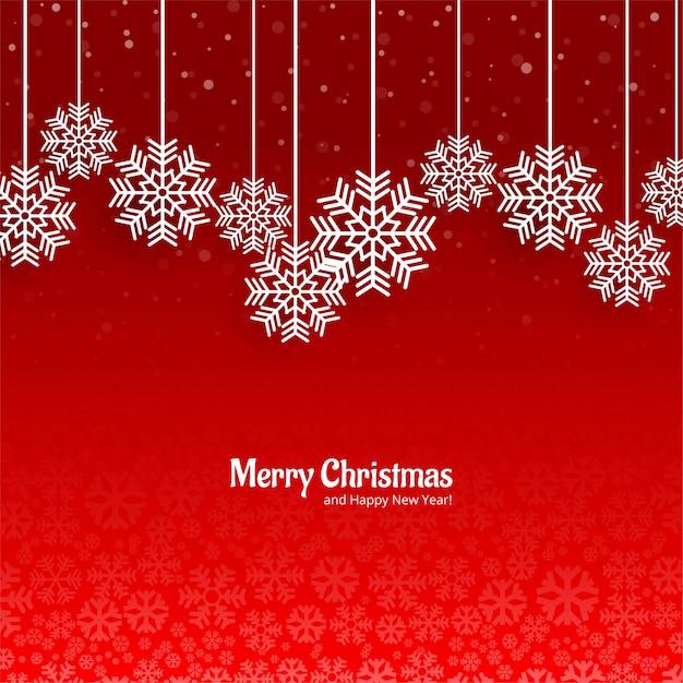 Piękne świąteczne śnieżynka Karty Czerwone Tło Darmowych Wektorów