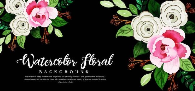 Piękne tło akwarela kwiatowy Premium Wektorów