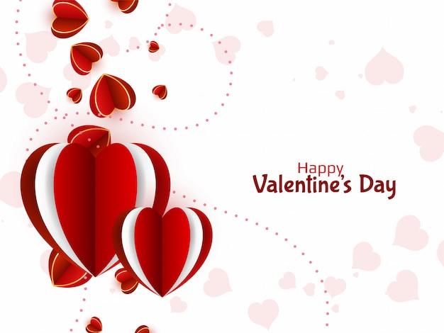 Piękne Tło Serca Na Walentynki Darmowych Wektorów