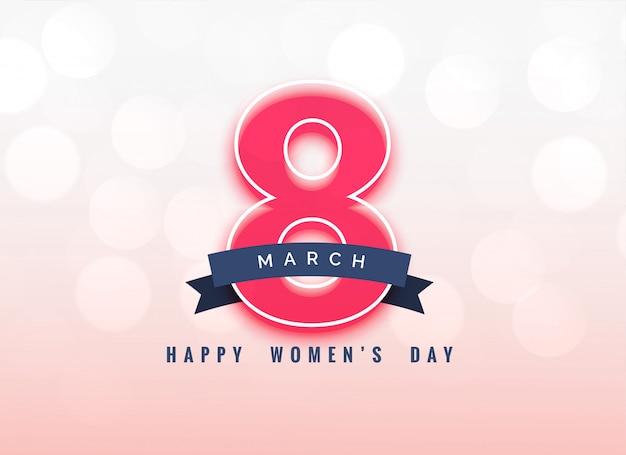 Piękny 8 Marca Dzień Kobiet Projekt Tła Darmowych Wektorów