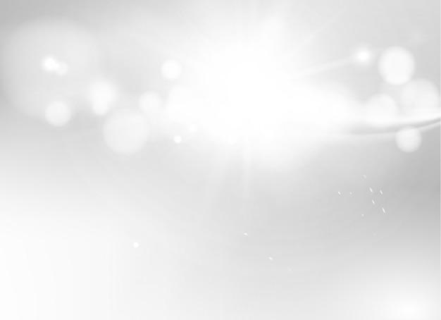 Piękny Abstrakcjonistyczny Biznesowy Szablon Na Bielu. Rozmycie Bokeh I Szare światło. Nieostre I Niewyraźne Tło. Premium Wektorów