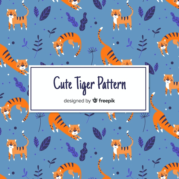 Piękny, charakterystyczny wzór tygrysa Darmowych Wektorów