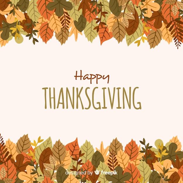 Piękny dzień dziękczynienia tło z płaska konstrukcja Darmowych Wektorów