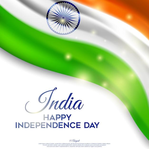 Piękny dzień niepodległości indii Premium Wektorów