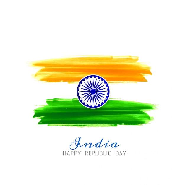 Piękny indyjski flaga tło wektor tematu Premium Wektorów