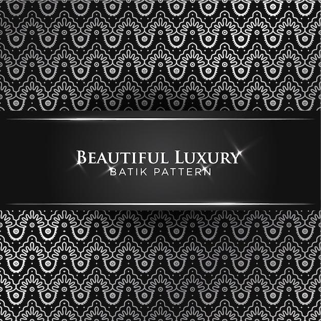 Piękny Klasyczny Luksusowy Batik Banten Szwu Premium Wektorów