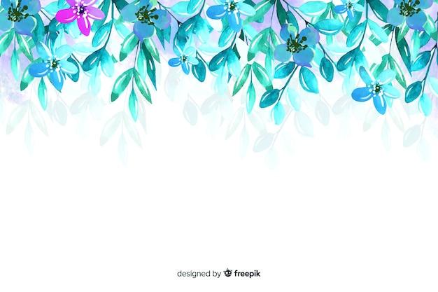 Piękny kolorowy kwiecisty tło skład Darmowych Wektorów