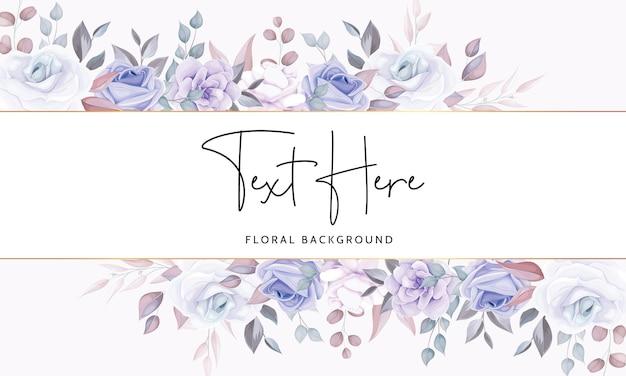 Piękny Kwiatowy Tło Z Miękkimi Fioletowymi Kwiatami Premium Wektorów