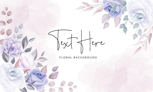 Piękny Kwiatowy Tło Z Miękkimi Fioletowymi Kwiatami Darmowych Wektorów