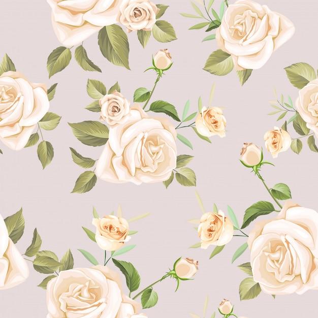 Piękny Kwiatowy Wzór Premium Wektorów