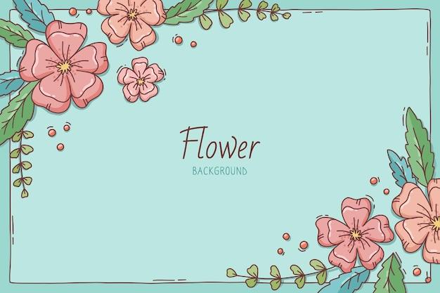 Piękny Kwitnący Kwiat Wiosna Tło Premium Wektorów