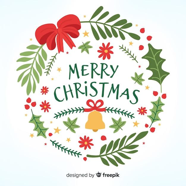 Piękny Napis Wesołych świąt Darmowych Wektorów
