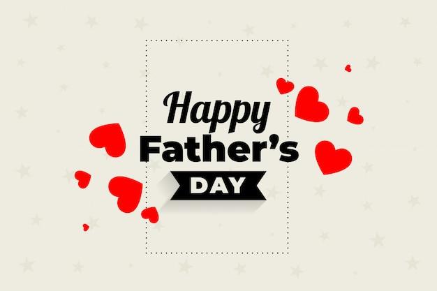 Piękny Projekt Serca Szczęśliwy Dzień Ojców Darmowych Wektorów