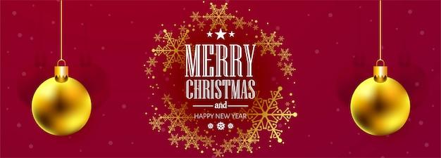 Piękny świąteczny płatek śniegu celebracja transparent Darmowych Wektorów