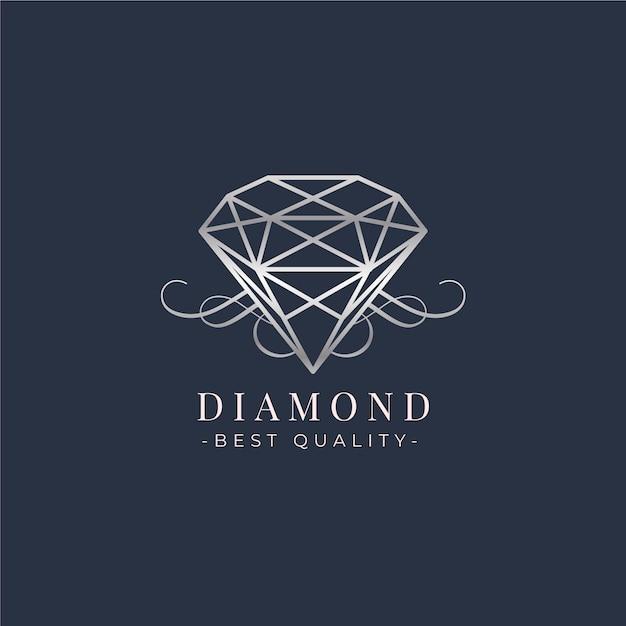 Piękny Szablon Logo Diamentu Premium Wektorów