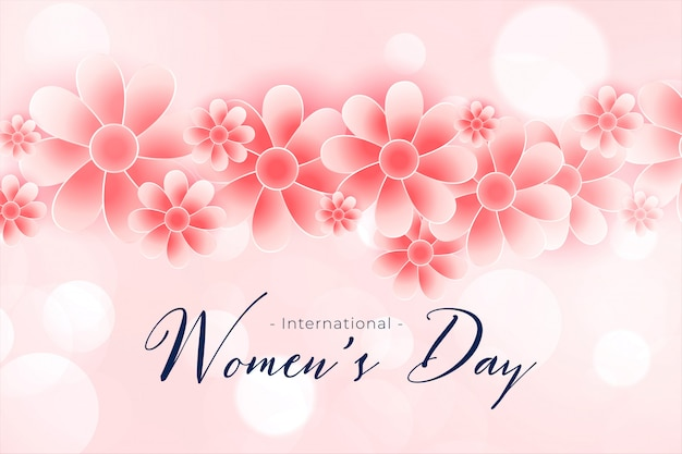 Piękny Szczęśliwy Kobieta Dnia Kwiatu Tło Darmowych Wektorów