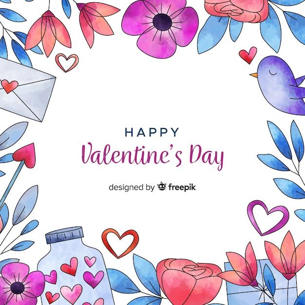 Piękny valentines day tło Darmowych Wektorów