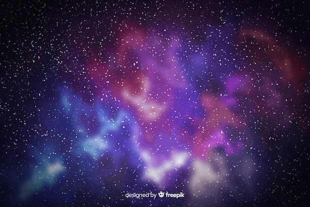 Piękny Widok Tła Cząstek Galaktyki Darmowych Wektorów