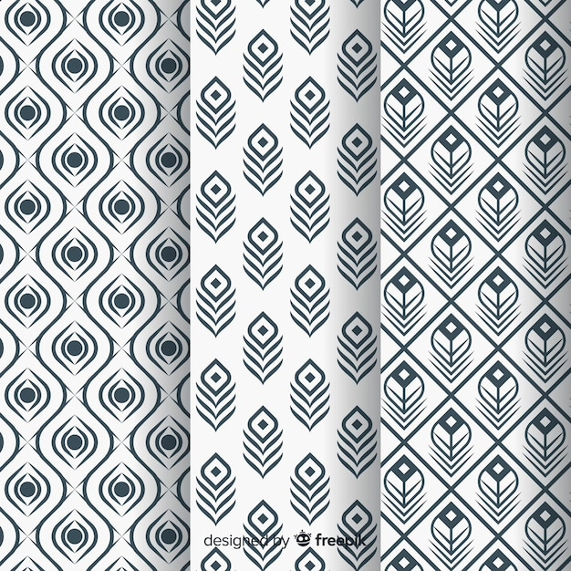 Piękny wzór pawi pióro z płaska konstrukcja Darmowych Wektorów