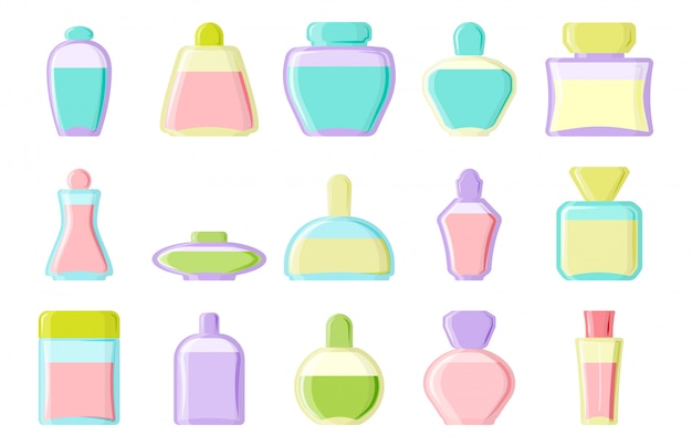Piękny zestaw butelek kosmetycznych Premium Wektorów