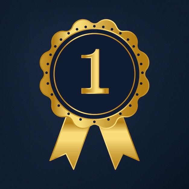 Pierwsza nagroda wektor wstążka nagrody Darmowych Wektorów
