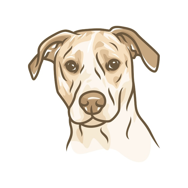 Pies Gończy - Wektor Logo / Ikona Ilustracja Maskotka Premium Wektorów