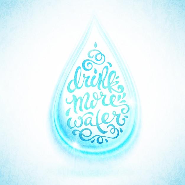 Pij więcej wody Premium Wektorów