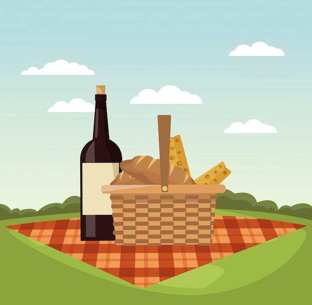 Piknik W Parku Premium Wektorów