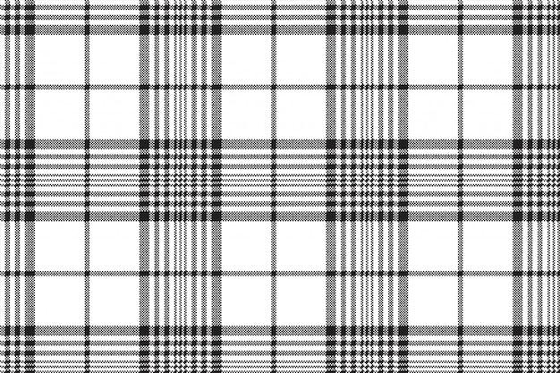 Piksele Czarno-biały Wzór Kratki W Kratę Premium Wektorów