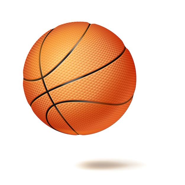 Piłka do koszykówki 3d Premium Wektorów