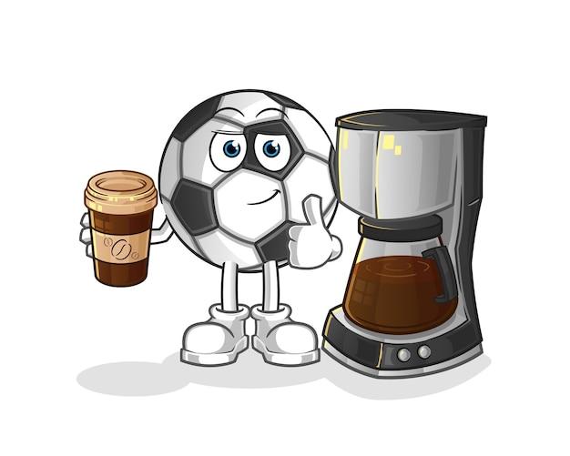 Piłka Do Picia Kawy Ilustracja Premium Wektorów