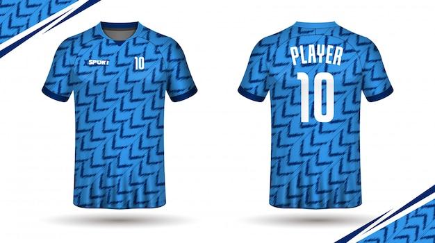 Piłka nożna koszulka szablon sport t shirt design Premium Wektorów