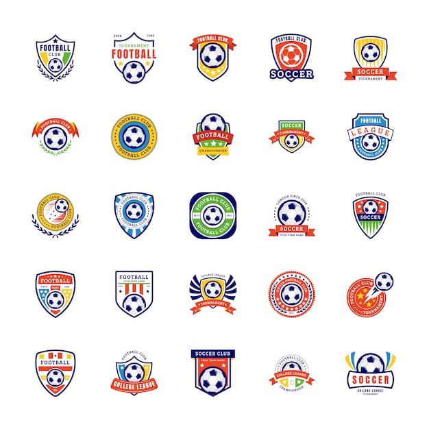 Piłka Nożna Logo Wektor Premium Wektorów