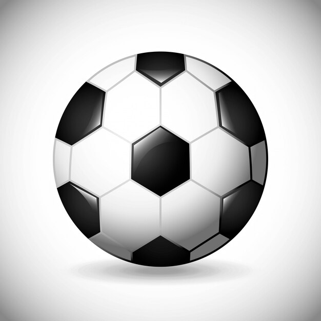 Piłka nożna projekt na szarym tle ilustracji wektorowych Premium Wektorów