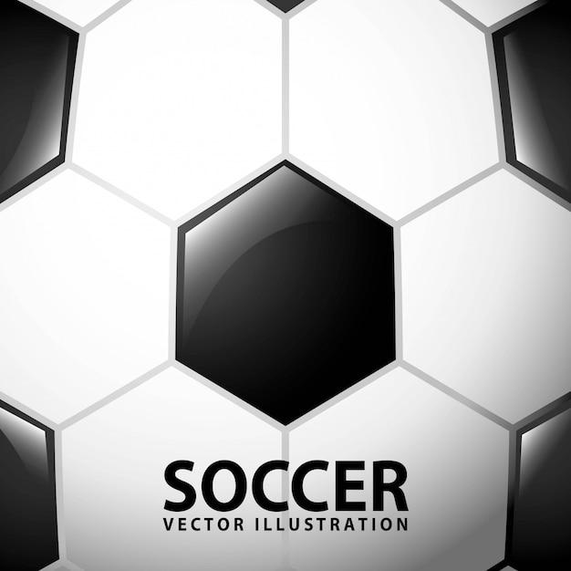 Piłka nożna projekt nad balową tło wektoru ilustracją Premium Wektorów