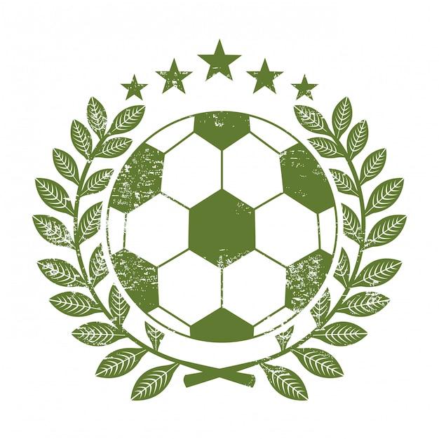 Piłka nożna projekt nad białą tło wektoru ilustracją Premium Wektorów