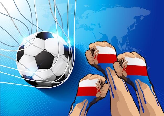 Piłka nożna rosja Premium Wektorów