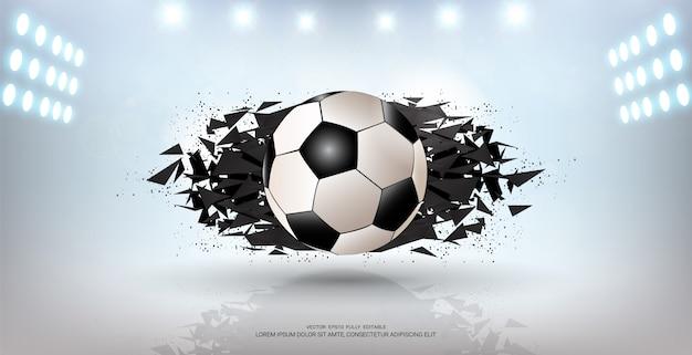 Piłka nożna w tle Premium Wektorów