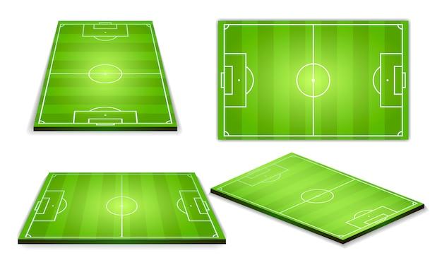 Piłka nożna zielone pole do zbierania gier Premium Wektorów