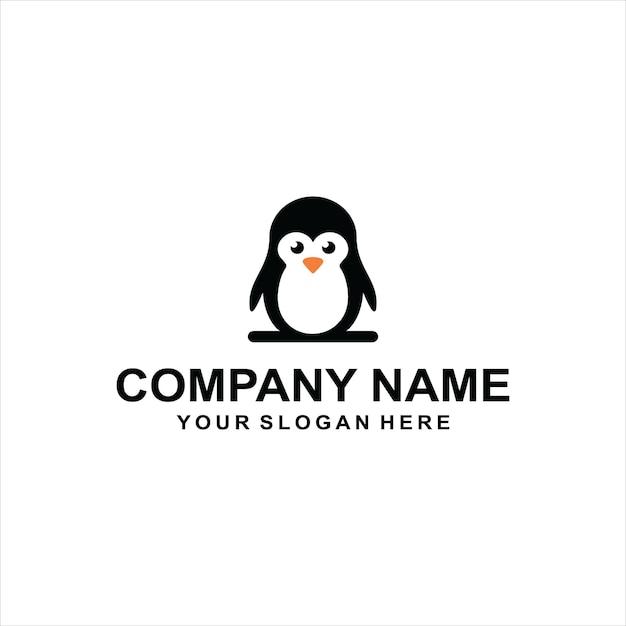 Pingwin Logo Wektor Premium Wektorów