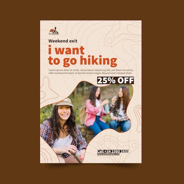 Pionowa Ulotka Turystyczna Premium Wektorów